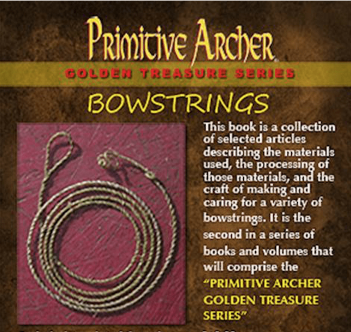 The cover of Bowstrings