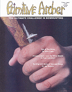 cover of Volume 1 issue 1 Primitive Archer Magazine