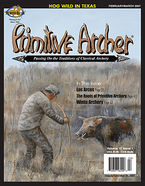cover of Primitive Archer Magazine Volume 15 Issue 1