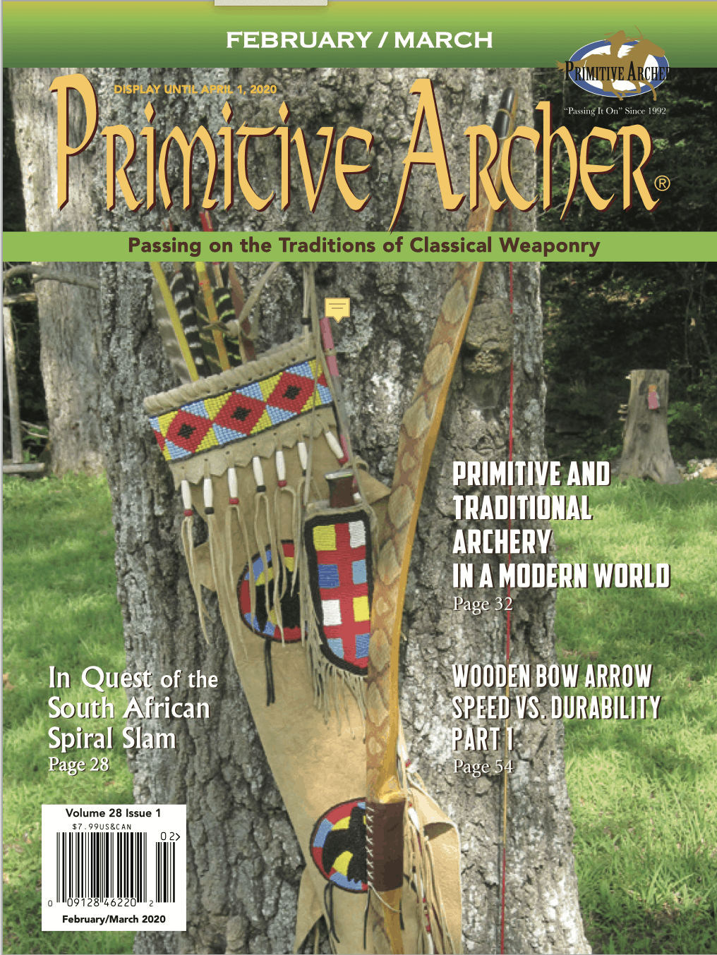 Primitive Archer Magazine Volume 28 Issue 1